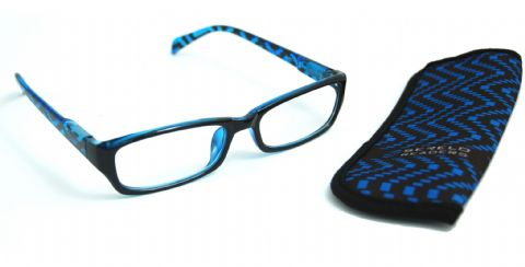 Serelo Reading Glasses - Cheltenham Blue Design - 3.00